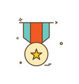 medal reward icon design vector image vector image