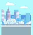 modern buildings downtown and cityscape vector image vector image