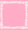 pink square background with decorative frame of vector image