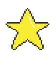 pixel art star vector image vector image