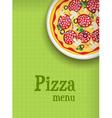 pizza green menu vector image vector image