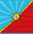 pop art versus background vector image