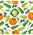 Ripe farm vegetables seamless pattern vector image vector image