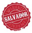 Salvador stamp rubber grunge vector image