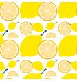 seamless background with yellow lemon vector image vector image