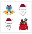 Set of Christmas Line Style Icons vector image vector image