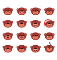Set of smiley teddy bear vector image vector image
