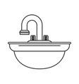 sink bathware item icon image vector image
