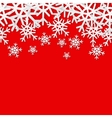 Snowflakes seamless border Christmas holiday vector image