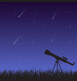 starfall and telescope vector image