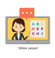 stock teacher teach online lessons vector image vector image