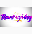 thanksgiving purple violet word text with vector image