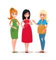 three pregnant women vector image