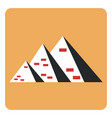 three pyramids on a white background vector image vector image
