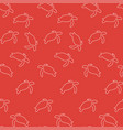 turtle pattern seamless color vector image