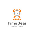 unny bear time vector image vector image