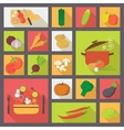 Vegetable icons food set for cooking restaurant vector image vector image