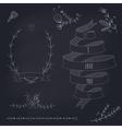 Hand drawn set of wedding design elements vector image