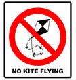 no kite flying sign warning vector image