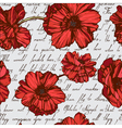 Seamless poppies vector image