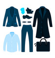classic clothing businessman vector image