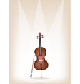 A Beautiful Brown Cello on Stage Background