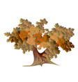 abstract autumn oak vector image vector image