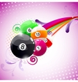abstract billiards background vector image vector image