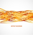 abstract orange background with horizontal lines vector image vector image