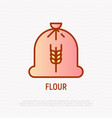 bag of flour thin line icon vector image