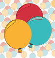 balloons air deco vector image