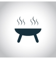 Barbeque oven flat symbol vector image