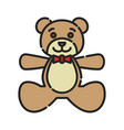 bateddy bear icon design clip art color icon vector image