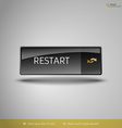 Black Glossy Button vector image vector image