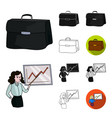 business conference and negotiations cartoonblack vector image