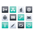 car parts and services icons over color background vector image vector image