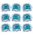Cartoon jellyfish vector image vector image