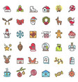 christmas holiday set of icons vector image