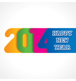 creative happy new year 2014 design vector image vector image