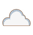 cute cloud cartoon vector image