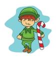 Cute elf helpers kid cartoon vector image vector image