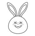 cute rabbit cartoon vector image