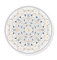 decorative plate with arabic ornament vector image vector image