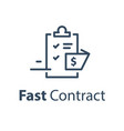 fast document registration contract creation vector image