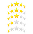 five star rating vector image vector image