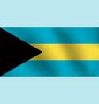 flag of bahamas - vector image