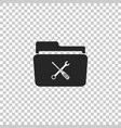 folder and tools or settings icon isolated vector image vector image