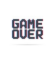 game over logo like glitch pixel art style vector image vector image