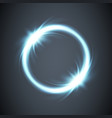 glow circle rays energy screen background vector image