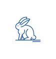 hare line icon concept hare flat symbol vector image